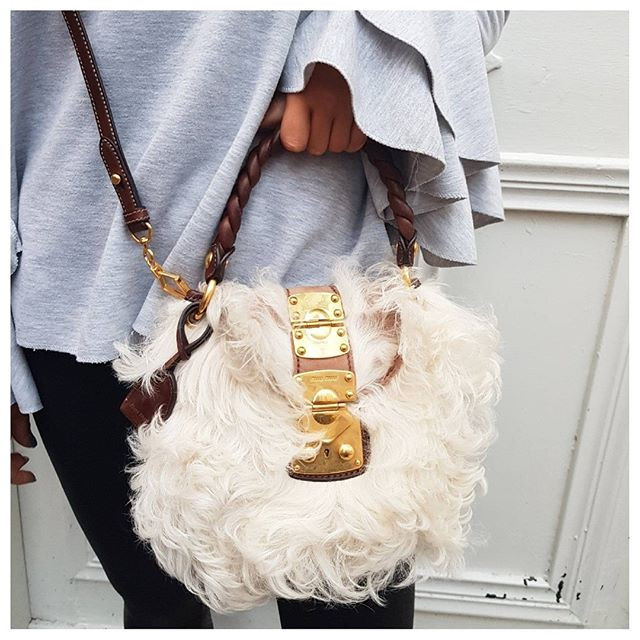 4b47304e7e6e Have some fun with this furry Limited Edition Miu Miu shearling cross body  🤩 Shop it